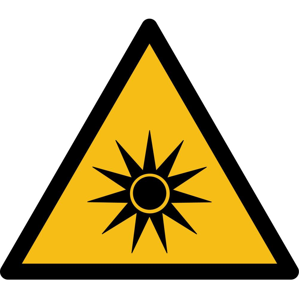 W027 - Warnung vor optischer Strahlung - selbstklebend