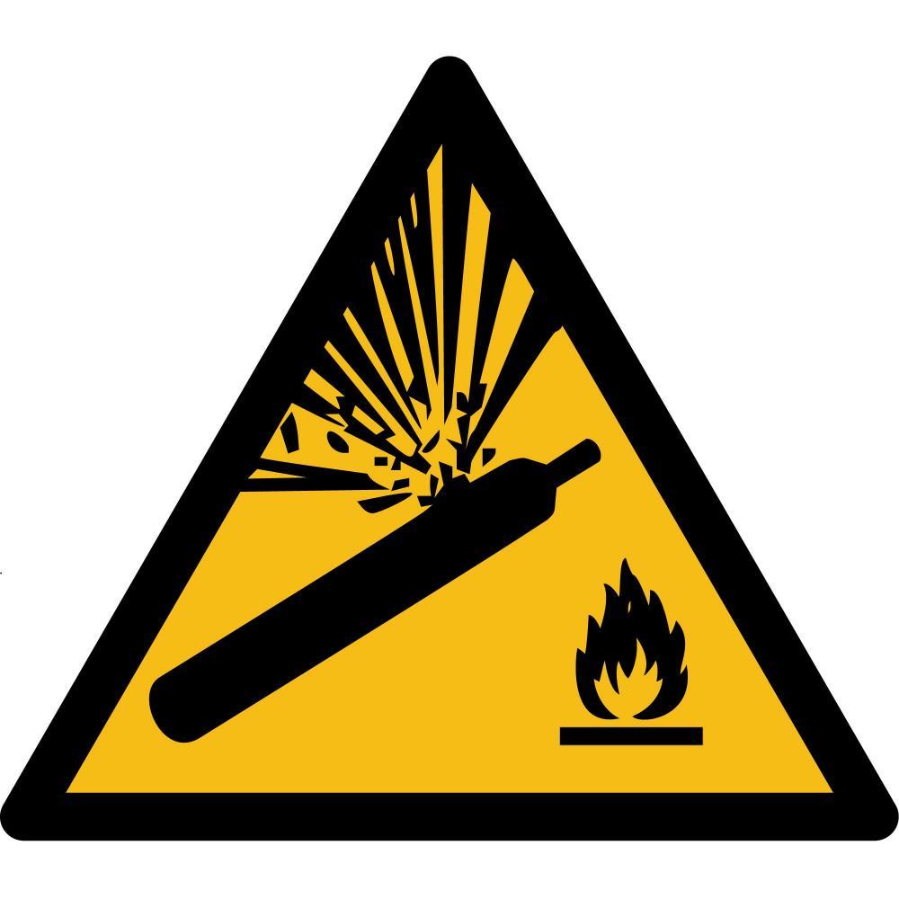 W029 - Warnung vor Gasflaschen - selbstklebend