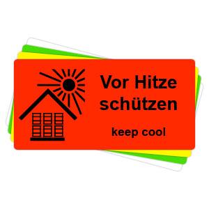 Versandaufkleber - Vor Hitze schützen - V025