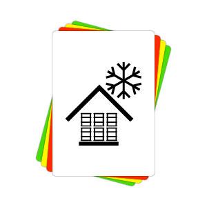 Versandaufkleber - Vor Kälte schützen - V004