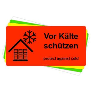 Versandaufkleber - Vor Kälte schützen - V028