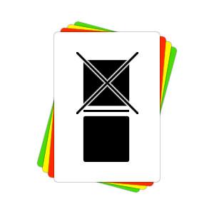 Versandaufkleber - Nicht stapeln - V006