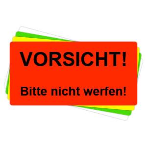 Versandaufkleber - Vorsicht - bitte nicht werfen - V022