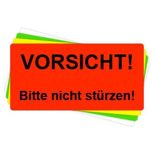 Versandaufkleber - Vorsicht - bitte nicht stürzen - V024