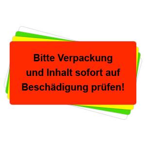 Versandaufkleber - Bitte Verpackung und Inhalt sofort auf Beschädigung prüfen - V031