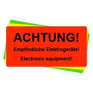 Versandaufkleber - Achtung - empfindliche Elektrogeräte - V038