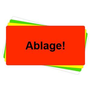 Versandaufkleber - Ablage - V044