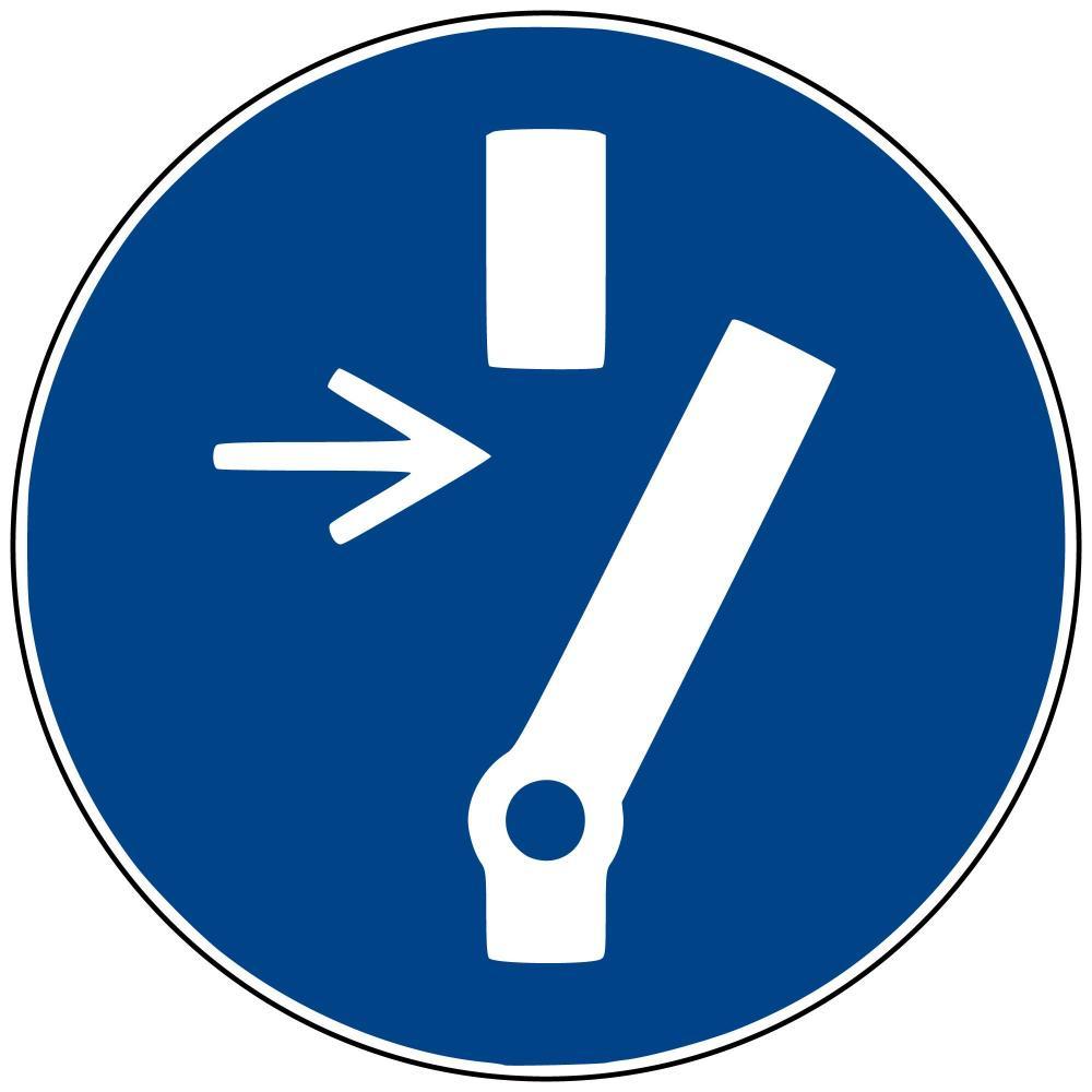 M21 - Vor Wartung oder Reparatur freischalten - selbstklebend