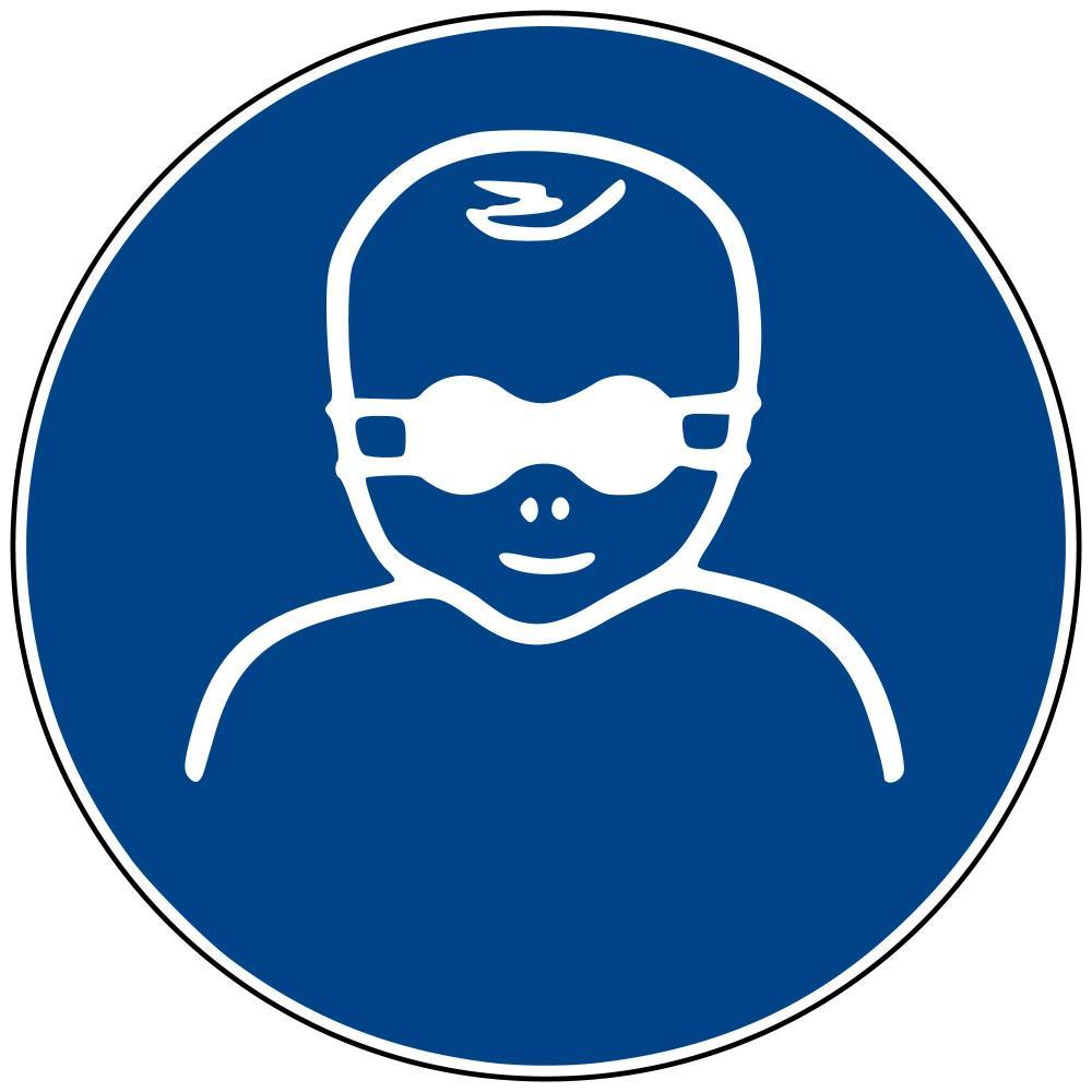 M25 - Kleinkinder mit Augenabschirmung schützen - selbstklebend