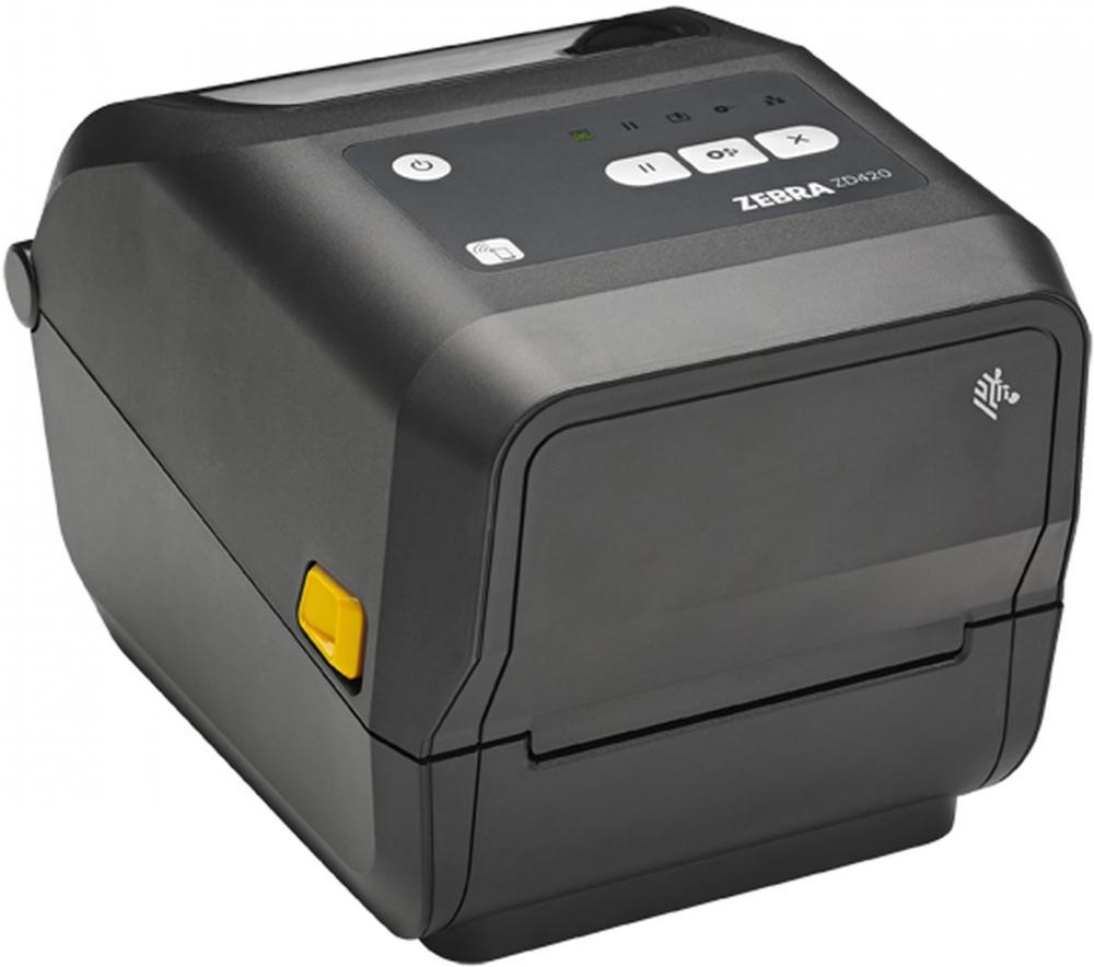 Zebra ZD420t Thermotransferdrucker für Farbbandrollen 203dpi, USB und USB-Host