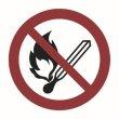 P002 - Keine offene Flamme, Feuer, offene Zündquelle und Rauchen verboten - selbstklebend