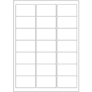 Etiketten auf DIN-A4 Bogen, 63,5 x 38,1 mm, für Laser-Drucker und Inkjet  preis-günstig kaufen