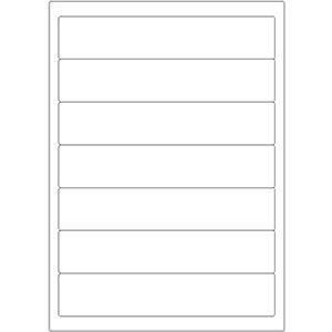 Etiketten auf DIN-A4 Bogen, 192 x 38 mm, für Laser-Drucker und Inkjet  preis-günstig kaufen
