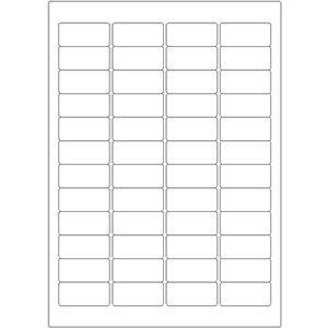 Etiketten auf DIN-A4 Bogen, 45,72 x 21,16 mm, für Laser-Drucker und Inkjet  preis-günstig kaufen