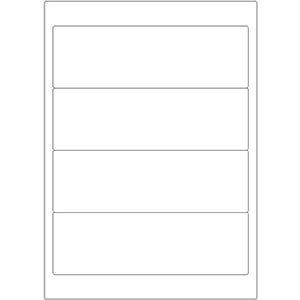 Etiketten auf DIN-A4 Bogen, 192 x 61 mm, für Laser-Drucker und Inkjet  preis-günstig kaufen