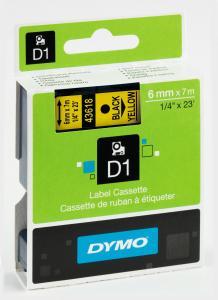 DYMO 43618 D1-Schriftband 6 mm schwarz auf gelb, S0720790  preis-günstig kaufen