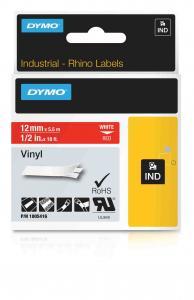 DYMO Rhino Vinylband 12 mm weiß auf rot IND 1805416  preis-günstig kaufen