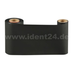 Farbband Wachs+, 57mm x 74m, schwarz für 2 Zoll Etikettendrucker  preis-günstig kaufen