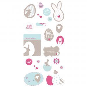 """Sticker """"Frohe Ostern"""" - pink  preis-günstig kaufen"""