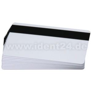 Plastikkarten, blanko weiß, HiCo  preis-günstig kaufen