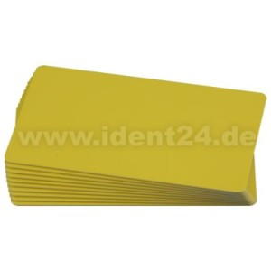 Plastikkarten, gelb  preis-günstig kaufen