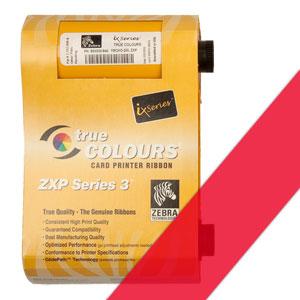 Zebra Farbband rot für ZXP3  preis-günstig kaufen