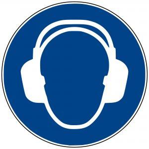 M03 - Gehörschutz benutzen - selbstklebend  preis-günstig kaufen