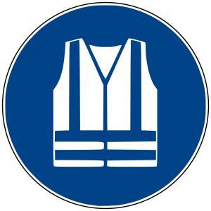 M15 - Warnweste benutzen - selbstklebend blau - 75 mm Durchmesser preis-günstig kaufen