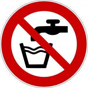 P005 - Kein Trinkwasser - selbstklebend  preis-günstig kaufen