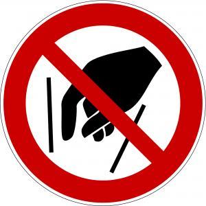 P015 - Hineinfassen verboten - selbstklebend  preis-günstig kaufen
