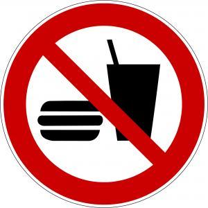 P022 - Essen und Trinken verboten - selbstklebend  preis-günstig kaufen