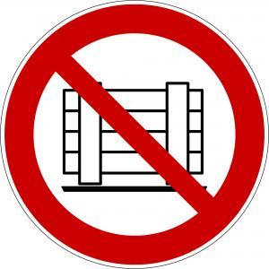 P023 - Abstellen oder Lagern verboten - selbstklebend  preis-günstig kaufen