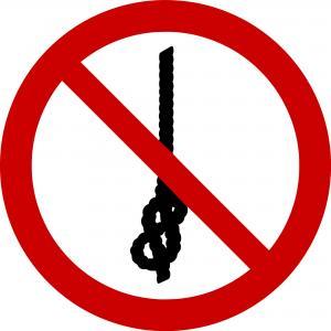 P030 - Knoten von Seilen verboten - selbstklebend  preis-günstig kaufen