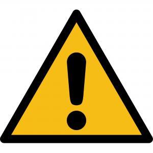 W001 - Warnung vor einer Gefahrenstelle - selbstklebend  preis-günstig kaufen