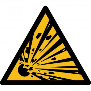 W002 - Warnung vor explosionsgefährlichen Stoffen - selbstklebend  preis-günstig kaufen
