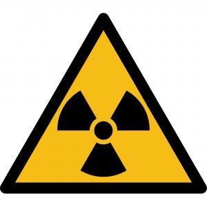 W003 - Warnung vor radioaktiven Stoffen oder ionisierenden Strahlen - selbstklebend  preis-günstig kaufen