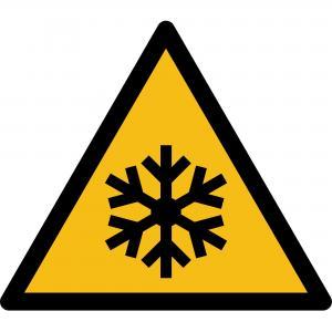 W010 - Warnung vor niedriger Temperatur - selbstklebend  preis-günstig kaufen