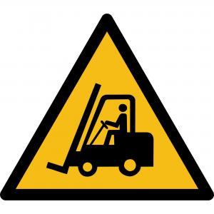 W014 - Warnung vor Flurförderfahrzeugen - selbstklebend  preis-günstig kaufen