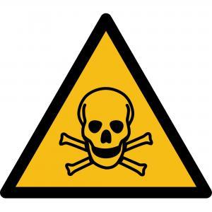 W016 - Warnung vor giftigen Stoffen - selbstklebend  preis-günstig kaufen