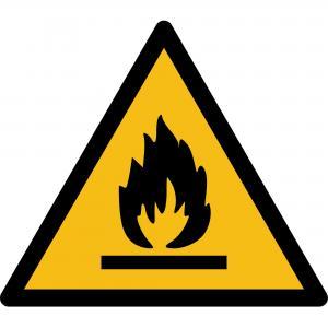W021 - Warnung vor feuergefährlichen Stoffen - selbstklebend  preis-günstig kaufen