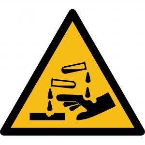 W023 - Warnung vor ätzenden Stoffen - selbstklebend  preis-günstig kaufen