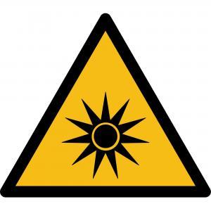 W027 - Warnung vor optischer Strahlung - selbstklebend  preis-günstig kaufen