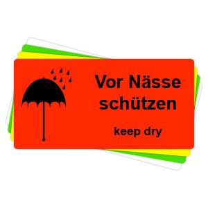 Versandaufkleber - Vor Nässe schützen - V027  preis-günstig kaufen