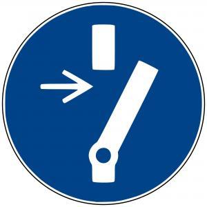 M21 - Vor Wartung oder Reparatur freischalten - selbstklebend  preis-günstig kaufen